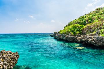 宮古島の海 Beautiful beach in Miyakojima Island, Okinawa.