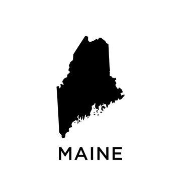 Maine map vector design template