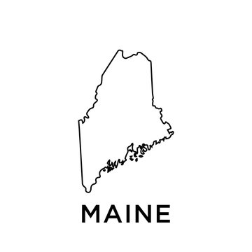 Maine map vector design template
