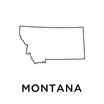 Montana map vector design template