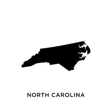 North Carolina map vector design template