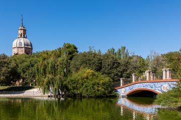 Public park in Talavera called Alameda Park in Talavera de la Reina, Toledo, Spain