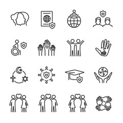Vector set of tolerance line icons.