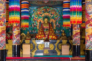インドにある、チベット寺院の仏像