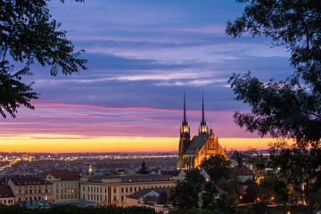 Brno Cathedral in the morning