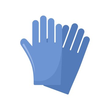 Rubber gloves icon. Flat illustration of rubber gloves vector icon for web design