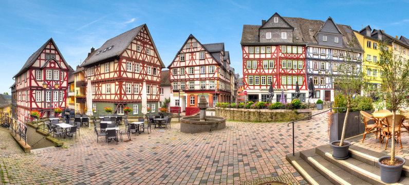 Häuserensemble am Kornmarkt in Wetzlar, Hessen