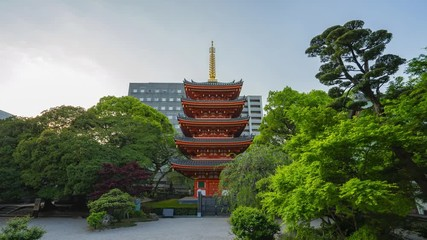 Wall Mural - Time lapse video of Tochoji Temple in Fukuoka, Japan