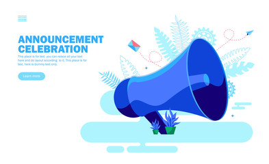 announcement with loudspeaker, work environment