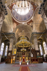 Interior of the main church of Burgas without people