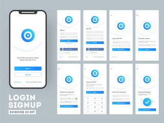 Different Login screens including  Create Account, Sign in and Sign up features for Mobile Apps and Responsive website.