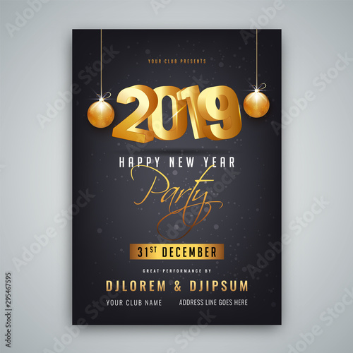 Happy New Year Invitation Card 100