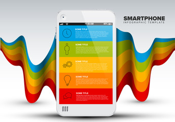 Vector smart phone infographic template