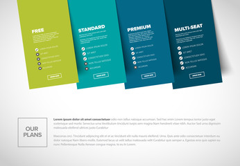 Product service subscription plans template
