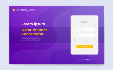 modern login page design