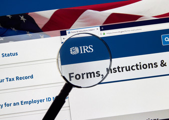 IRS USA Government home page