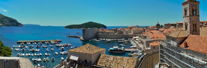 Dubrovnik, Croatia: Panorama view of the Old Port