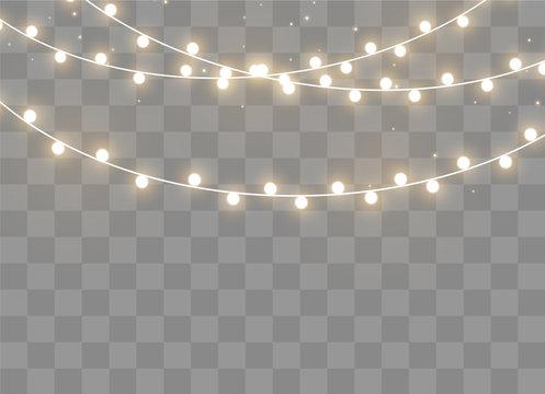Christmas lights effect