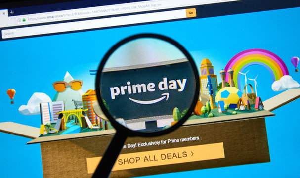 Amazon prime day page on official amazon site