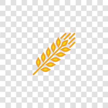 grain icon sign and symbol. grain color icon for website design and mobile app development. Simple Element from gastronomy set collection isolated on black background.
