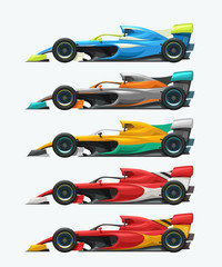 Papiers peints F1 formula one set side view