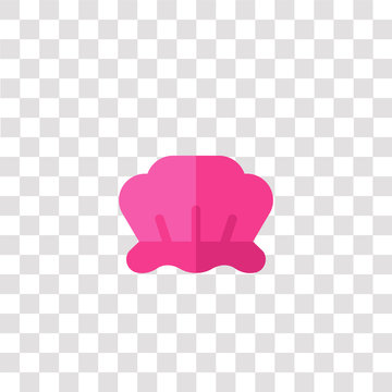 shower cap icon sign and symbol. shower cap color icon for website design and mobile app development. Simple Element from hygiene routine collection isolated on black background.