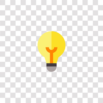 light bulb icon sign and symbol. light bulb color icon for website design and mobile app development. Simple Element from business and office collection isolated on black background.