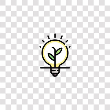 lightbulb icon sign and symbol. lightbulb color icon for website design and mobile app development. Simple Element from ethics collection isolated on black background.