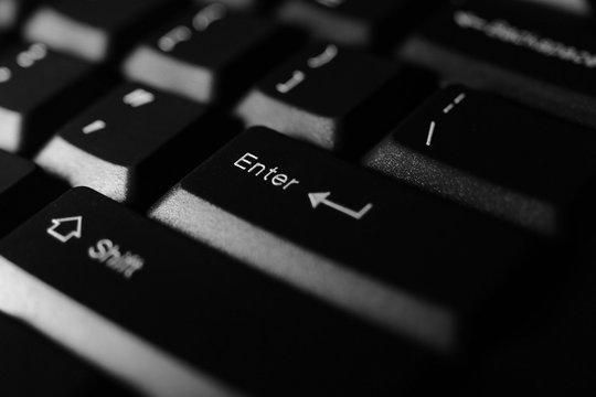 Closeup of computer keyboard