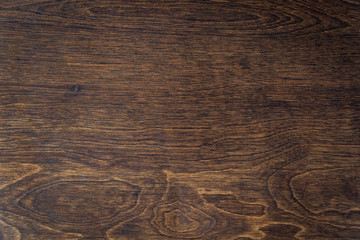 Dark stained wood panel as a background