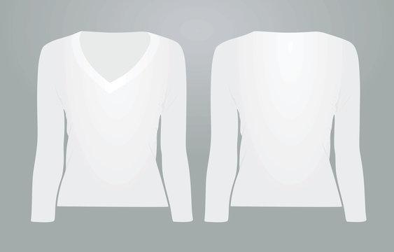 Long sleeve top. vector illustration