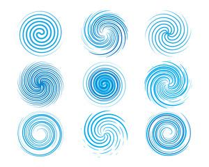 Fototapeta Design elements spiral motion twisted swirl set obraz