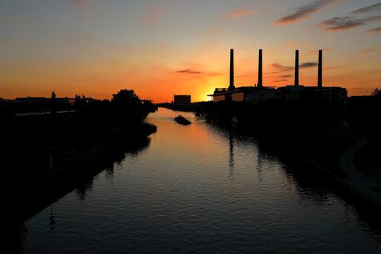 Sunset in Wolfsburg