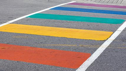 A Rainbow Crosswalk for Pride