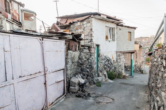 Alley in Kond neigborhood in Yerevan, Armenia