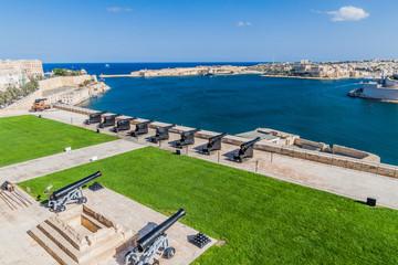 Saluting Battery in Valletta and the Grand Harbour, Malta Fototapete