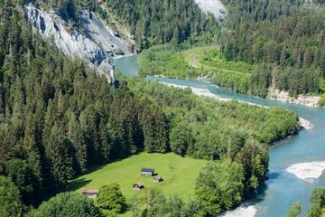 Vorderrhein, Rheinschlucht, Ruinaulta, bei Versam, Graubünden, Schweiz, Europa