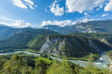 Rheinschlucht, Ruinaulta,  Graubünden, Schweiz, Europa