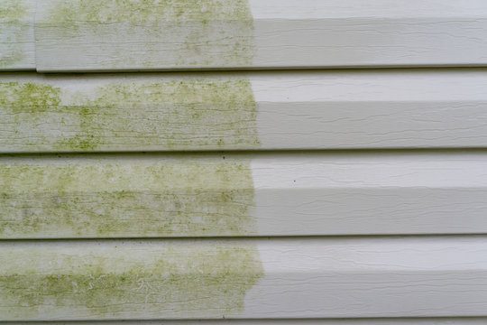 Before & After Power Washing Vinyl Siding