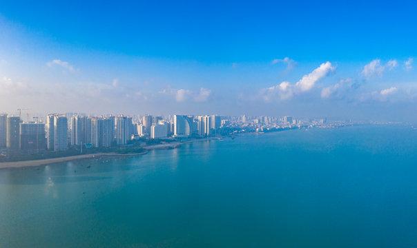 Coastal cityscape of Guangxi, China