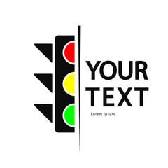 traffic light logo, icon isolate on white background.
