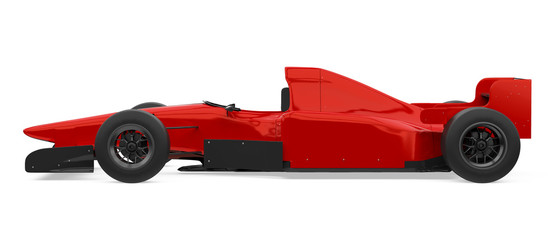 Fotorollo F1 Red Formula One Race Car Isolated