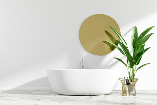 Interiors bathroom design. 3d rendering