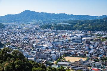 Cityscape of Sumoto city ,Awaji island ,hyogo,Japan