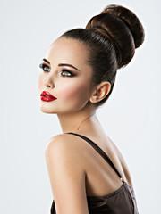 Spoed Fotobehang Kapsalon Beautiful sensual woman with creative hairstyle