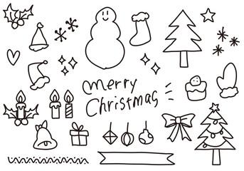 手描きのクリスマスイラスト