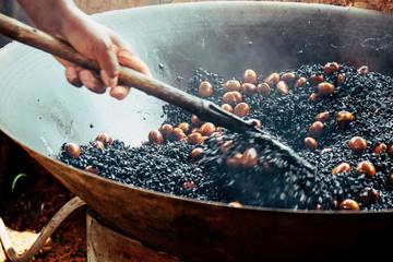 image of Chestnut roasting background
