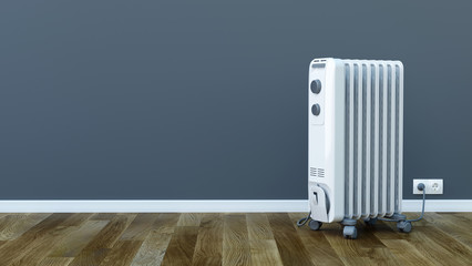 Electric room oil heater - 3d illustration