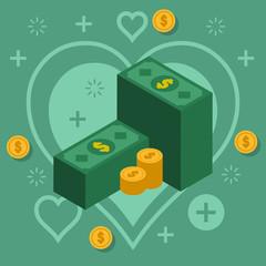 money investment vector graphic design