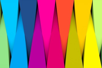 Colorful abstract background with triangle 3D illustration